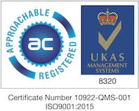 JR Biomedical Ltd is ISO9001:2015 accredited