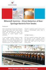 PCR swab method for detection of beer spoilage bacteria