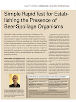 Simple rapid test for establishing the presence of beer spoilage organisms